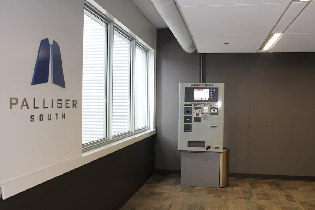 Plus 30 Pay Station at Palliser Parkade