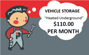 Heated Underground Vehicle Storage
